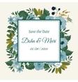 Cute wedding invitation template vector image vector image