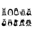 cute woodland animals and forest design elements vector image vector image
