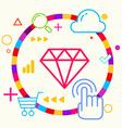 Diamond on abstract colorful geometric light vector image vector image