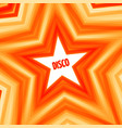 disco star background vector image vector image