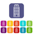 dutch houses icons set vector image vector image