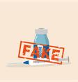fake drugs pharmaceutical package symbol vector image