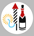 firecracker wine box vector image vector image