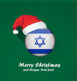 flag of israel merry christmas and happy new year vector image