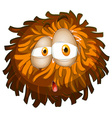 Fluffy ball with face vector image vector image