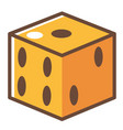 game dice with holes square cubes for playing vector image