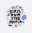 girls run the world message vector image