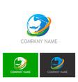 globe technology company logo vector image