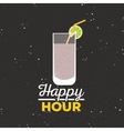 Happy hour label vector image vector image