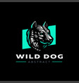 head a dog or wolf vector image vector image