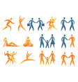 Icons symbols human figures vector image vector image