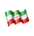 iran flag on a white vector image