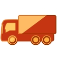 isolated truck on flat design vector image vector image