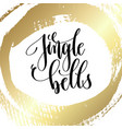 jingle bells - hand lettering quote to winter vector image