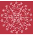 mandala red floral vector image vector image