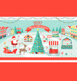 merry christmas 2017 big festive fair promo poster vector image
