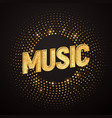 music logo design element isolated musical vector image vector image