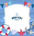 nautical background design vector image vector image
