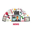 news creation and publication modern special vector image vector image