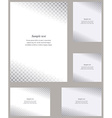 Page corner design template set vector image vector image