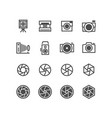 photo camera camcorder photographer icons vector image vector image