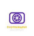 photography logo template vector image