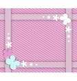 pink frame for girls vector image vector image