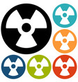 radiation flat style icon vector image