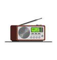 radio tuner radio receiver vector image vector image