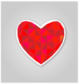 Red geometric heart vector image