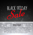 sale of black friday design background vector image vector image