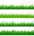 seamless gorisontal grass border green grass vector image vector image