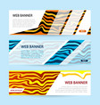 set horizontal color banners with white paper vector image vector image