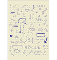 Set of doodle signs vector image vector image