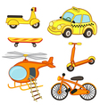 set of isolated transport vector image vector image
