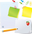 Set of office stationery vector image