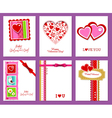 set of valentines day cards vector image vector image