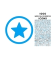 Star Rounded Icon with 1000 Bonus Icons vector image vector image