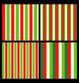 stripes red green vertical wrapping paper vector image vector image