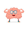 strong happy healthy brain character vector image vector image
