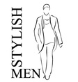 Stylish men vector image
