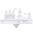 surat city skyline vector image vector image
