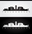 Tallahassee usa skyline and landmarks silhouette