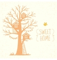 tree and houses vector image vector image