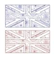 UK flag otlines vector image vector image