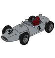 vintage silver racecar vector image vector image