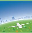 washington skyline flight destination vector image vector image