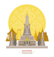 wat arun bangkok thailand with decoration vector image vector image