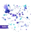 Watercolor paint splashes vector image vector image