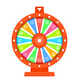 wheel fortune flat design template vector image